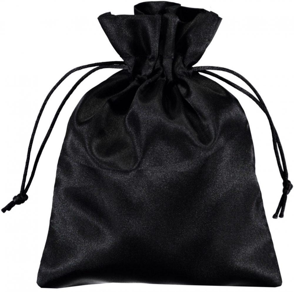 Satin påsar 15x20cm svart (2)