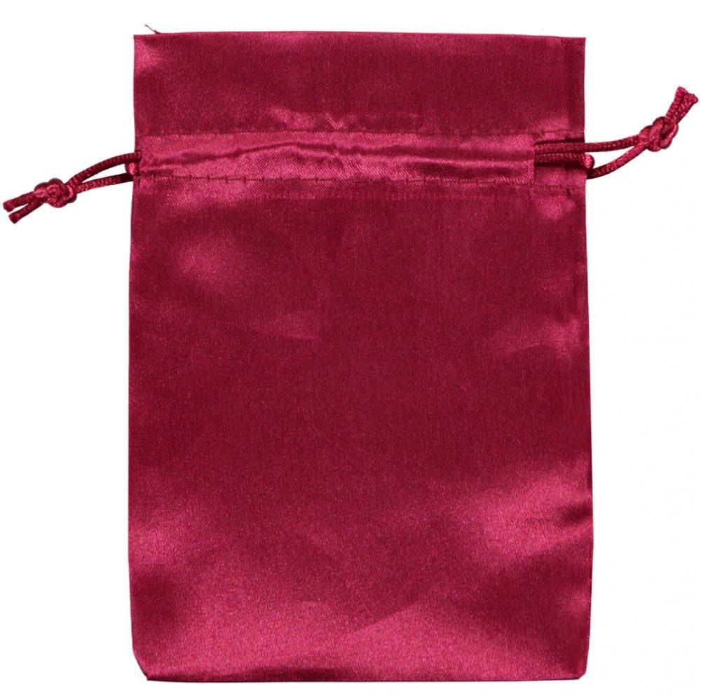 Satin påsar burgundy 10x15cm (2