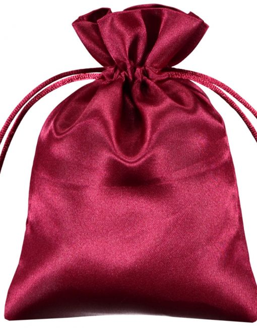 Satin påsar burgundy 10x15cm