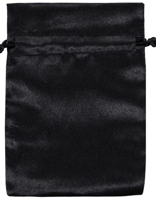 Satin påsar svart 10x15cm (3)