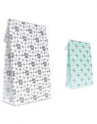 50 bitar Presentpåsar Papper Arctic Flower med adhesiv remsa och undre block 10x15,7x4 of 14x23x5,5cm